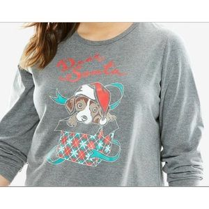 Woman Within Tops - NEW Woman Within 4X 34/36 Dear Santa Puppy Top